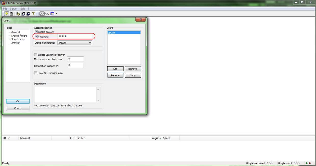 13  Configuration d'un serveur FTP avec caméra IP (Pour
