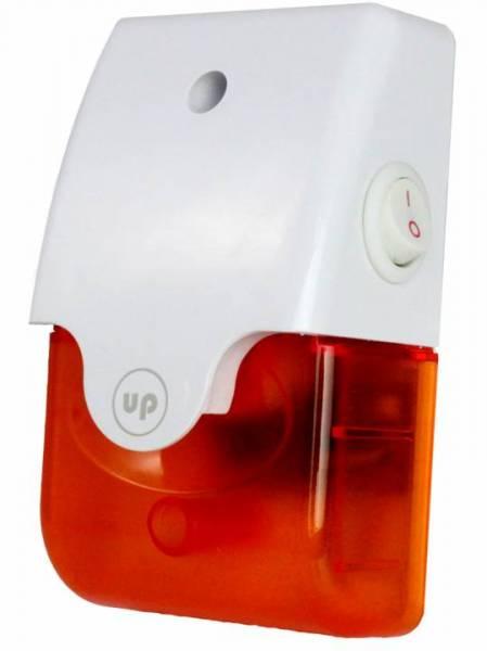 VORBESTELLUNG: Alarm (innen/außen) mit Blitzlicht & stillem Alarm(2m Anschlusskabel/Netzteil)–Direkt